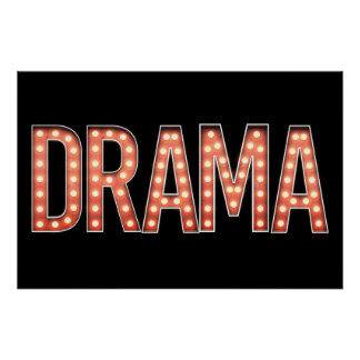DRAMA Marquee Lights Poster