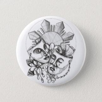 Drama Mask Hibiscus Sampaguita Flower Philippine S 6 Cm Round Badge