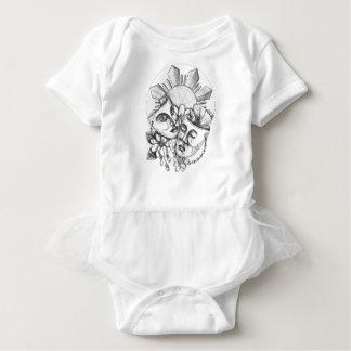 Drama Mask Hibiscus Sampaguita Flower Philippine S Baby Bodysuit
