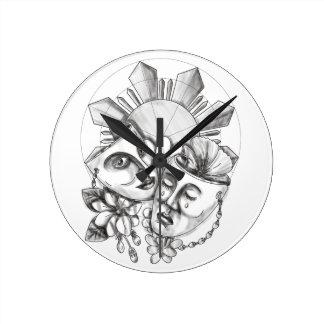 Drama Mask Hibiscus Sampaguita Flower Philippine S Clocks
