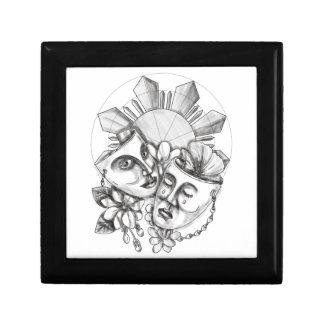 Drama Mask Hibiscus Sampaguita Flower Philippine S Gift Box