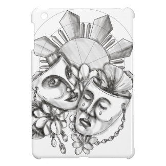 Drama Mask Hibiscus Sampaguita Flower Philippine S iPad Mini Cases