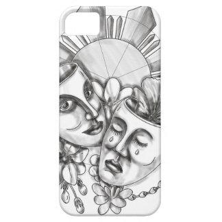 Drama Mask Hibiscus Sampaguita Flower Philippine S iPhone 5 Cover