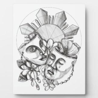 Drama Mask Hibiscus Sampaguita Flower Philippine S Plaque