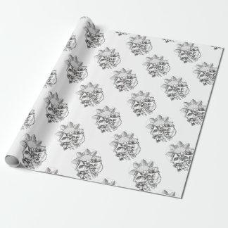 Drama Mask Hibiscus Sampaguita Flower Philippine S Wrapping Paper