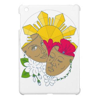 Drama Mask Philippine Sun Hibiscus Sampaguita Flow iPad Mini Cover