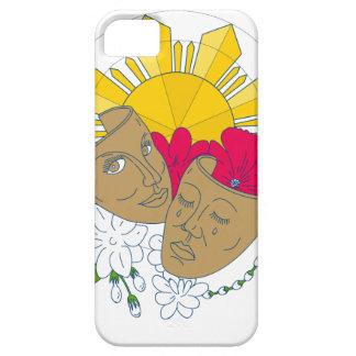 Drama Mask Philippine Sun Hibiscus Sampaguita Flow iPhone 5 Case