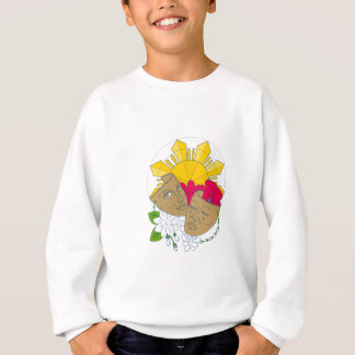 Drama Mask Philippine Sun Hibiscus Sampaguita Flow Sweatshirt