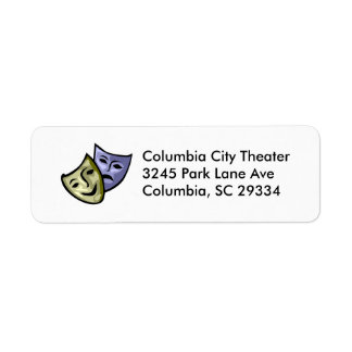 Drama Mask Return Address Label