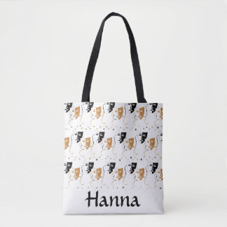 Drama Mask Theatre Themed Personalised Tote Bag