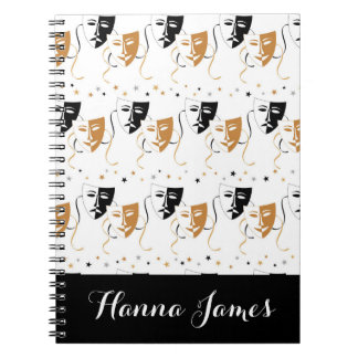 Drama Mask Theatre Themed Personalized Notebooks