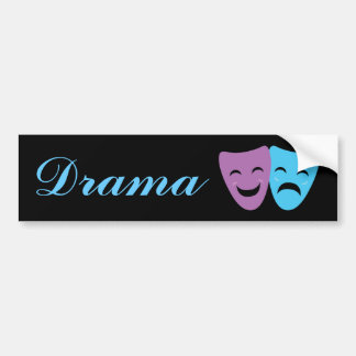 Drama Masks Bumper Sticker