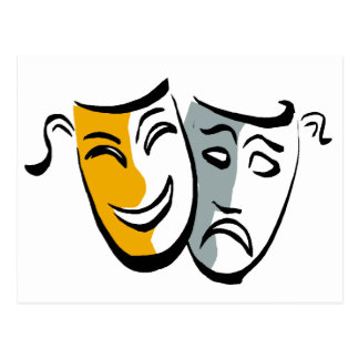 Drama masks merchandise postcard