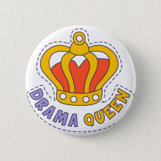 Drama Queen Crown 6 Cm Round Badge