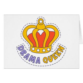 Drama Queen Crown Card