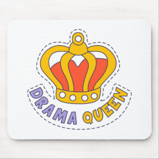 Drama Queen Crown Mouse Pad