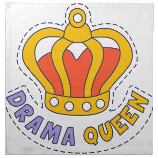 Drama Queen Crown Napkin