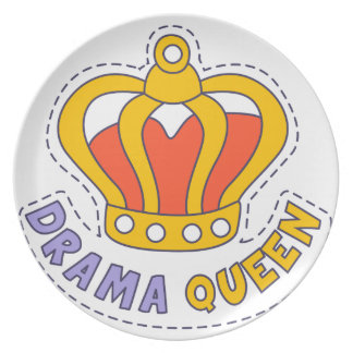 Drama Queen Crown Plate