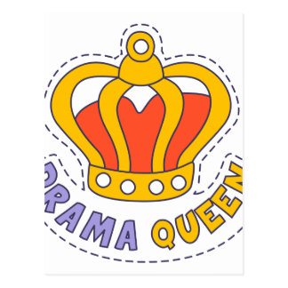 Drama Queen Crown Postcard