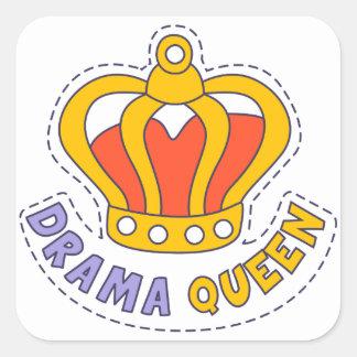 Drama Queen Crown Square Sticker