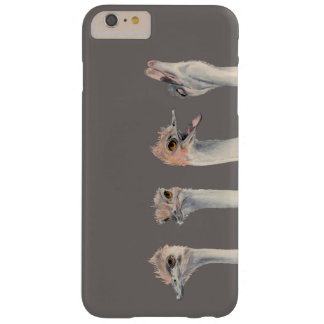 """Drama Queen"" Funny Ostriches Painting Barely There iPhone 6 Plus Case"