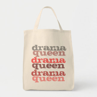 drama queen grocery tote