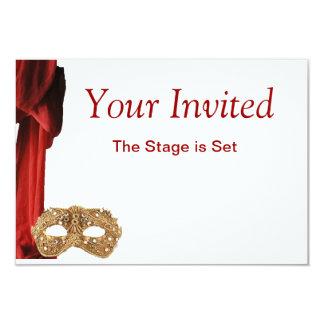 """Drama Queen Theatre,Opera,Play,Museum Invite 3.5"""" X 5"""" Invitation Card"""