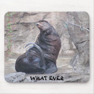 """Drama Seal says """"what ever"""" Mouse Pad"""
