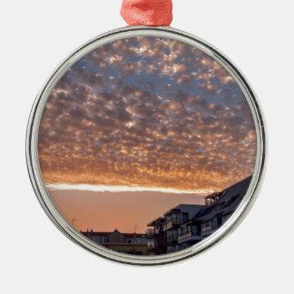 drama sky Silver-Colored round decoration