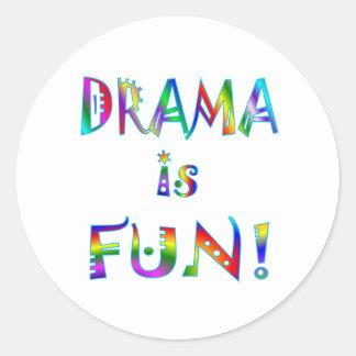 Drama Round Sticker