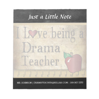 Drama Teacher | Vintage Style Notepad