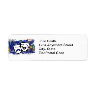 Drama the Musical Splash Return Address Label
