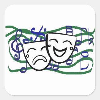 Drama the Musical Square Sticker