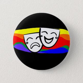 Drama: the Rainbow Swirls 6 Cm Round Badge