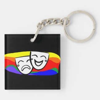 Drama: the Rainbow Swirls Key Ring