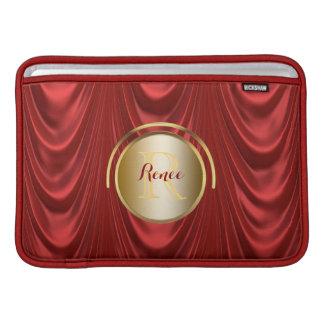 Drama Theatre Stage Curtains | Theater Monogram MacBook Sleeve