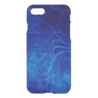 Dramatic Abstract Pattern Electric Blue iPhone 7 Case