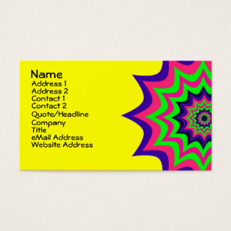 Dramatic and Colorful Stars Business Card