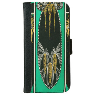 Dramatic Art Deco in Purple iPhone 6 Wallet Case