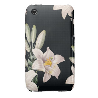 Dramatic Black and White Lilies Case-Mate iPhone 3 Cases