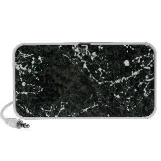 Dramatic Black&White Paint Splatter Notebook Speaker