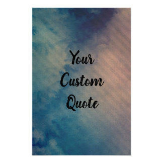 Dramatic Chilled Striped Personalized Quote Print