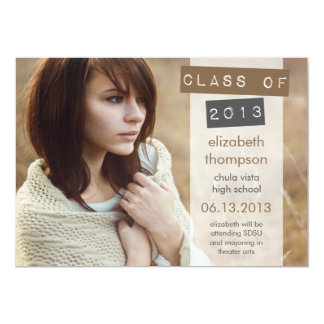Dramatic Class Of 2013 Graduation Announcement