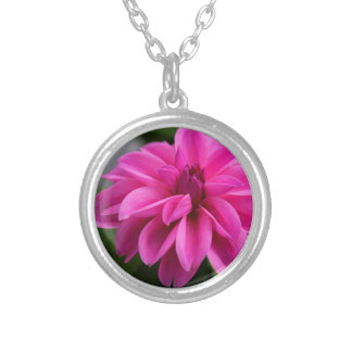 Dramatic Dahlia Silver Plated Necklace