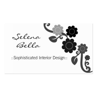 Dramatic Elegance Floral Business Card, Ivory Pack Of Standard Business Cards
