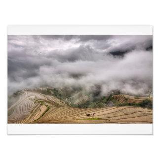 Dramatic farming photo print