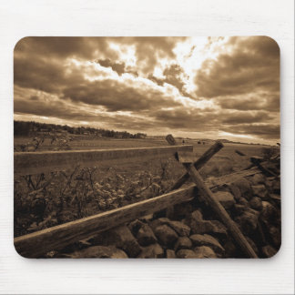 Dramatic Gettysburg Fenceline Mouse Pad