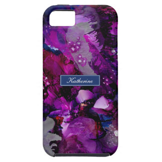 Dramatic Inks Abstract Purple iPhone 5 Covers