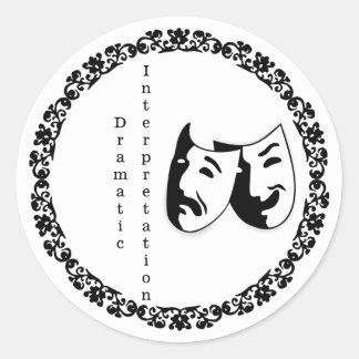 Dramatic Interpretation stickers 20 ct 1 sheet