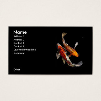 Dramatic Koi Pair Business Card